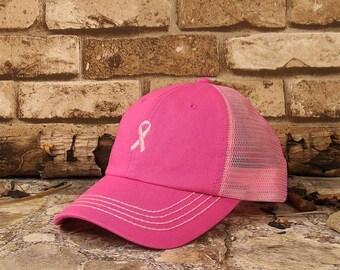 Pink Ribbon Breast Cancer Awareness Cotton Cap