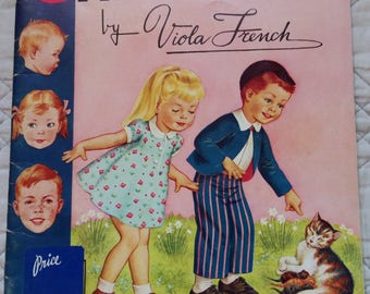 Vintage 50's Art Book Children's 950's Vintage Instruction Book How to Book Draw Children Instruction Drawing Book Painting Book V. French