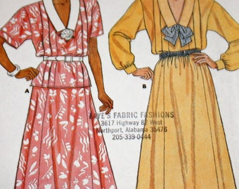 UNCUT, Butterick 3622, Vintage 1980s Sewing Pattern, Misses' Top and Skirt, Misses' Size 8-10-12,1980s Pattern, OLD2NEWMEMORIES