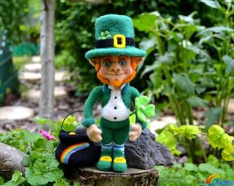 Needle felted Leprechaun, St. Patrick's day, Art doll, Handmade doll, Collectible doll, Needle felt, Needle felted doll, Leprechaun figurine