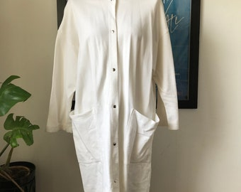 Vintage Marimekko Oversize White Sweatshirt 1990 / Size Small, fits Medium - Large/ Finland
