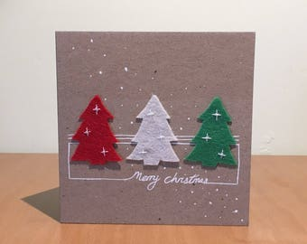Felt Christmas tree, Christmas card