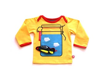 BEEETÚ Baby Sweater Sunny day + airplane