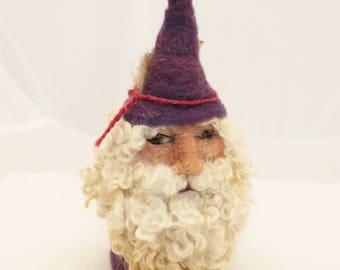 Gnome, Needle Felted Gnome, Garden Gnome, Felted Gnome, Forest Gnome #2758