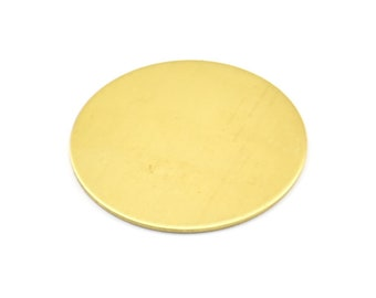 28mm Round Blank, 10 Raw Brass Stamping Blanks, Tags Without Holes (28x0.80mm) K622