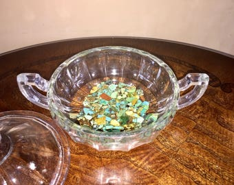 Turquoise Dish with Lid