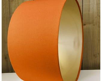 Burnt Orange Metallic Gold Drum Lampshade Lightshade 20cm 25cm 30cm 35cm 40cm 50cm 55cm 60cm