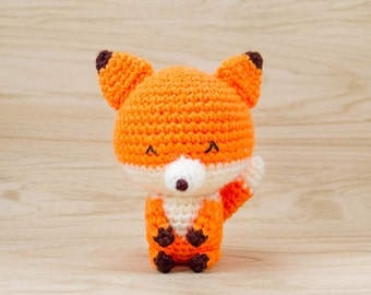 Fox Plush - Stuffed Fox - Amigurumi Fox - Crochet Fox - Fox Stuffed Animal - Fox Toy - Fox Decor - Fox Gift - Nursery Decor - Kito the Fox
