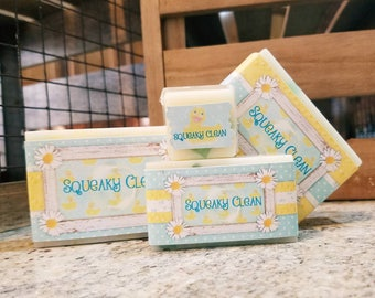 Lightly Scented Handmade  Goat Milk Bar Soap // Mild, Clean Scent // SQUEAKY CLEAN