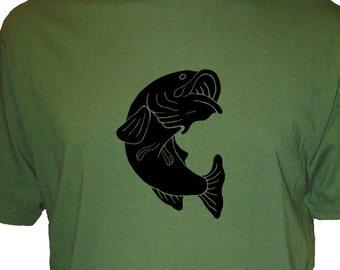 Fishing - Fish - Fishing Shirt - Mens Organic Shirt  - Gift Friendly
