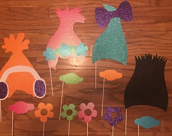 Trolls Photo Booth Props