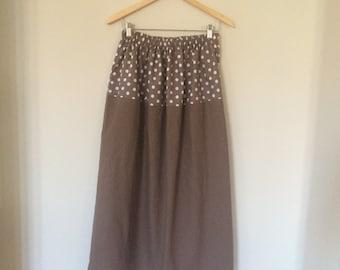 Chocolate Polka Dots long skirt