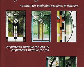 Awesome Easy Stained Glass Pattern Book! Denny Berkery BEGINNING PATTERNS II Lead & Foil Pattern