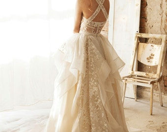 Wedding Separates, Wedding Dress, Rustic Wedding Dresses, Bridal Gown, White Lace Skirt, Floral Lace Skirt, Embroidered Skirt, Maxi Skirt