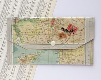 Vintage Map & Vinyl - Travel Envelope