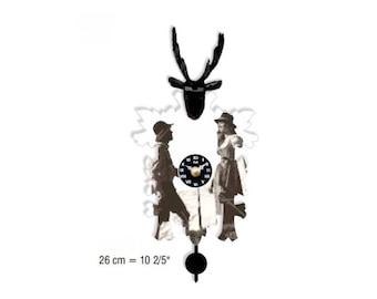 Black Forest avant-garde Cuckoo clock 12 melody Cuckoo call CuckooClocks motif 23