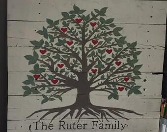 Family Tree Pallet Wood Board