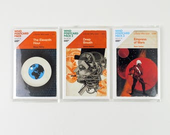 Doctor Who | Penguin-style book covers | Postcards – three-pack bundle