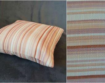 "Vintage Decorative Pillow Stripped Pillow Case 16x16"" 40x40cm Home Decor White Pink Orange Striped Pillow"