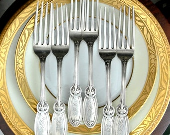 8 Sterling Silver Large Fork Gibney by Whiting SALE