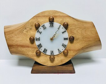 Stunning Mid Century Modern Airplane Propeller Wood Clock