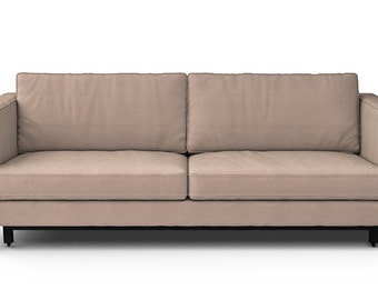 IKEA Karlstad Sofa Bed SLIPCOVER ONLY In Rouge Sand Fabric