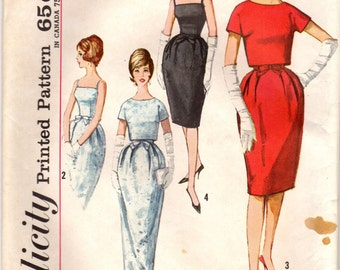 1960s Simplicity 4688 UNCUT Vintage Sewing Pattern Junior Formal Dress and Cropped Jacket Size 9 Bust 30-1/2