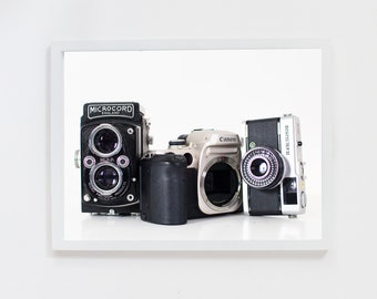 Photograph of Vintage Cameras | Photography Print of Analogue Cameras
