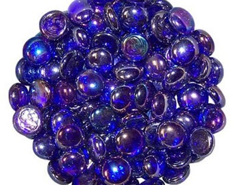 Royal Blue Glass Pebbles Home Vases Wedding