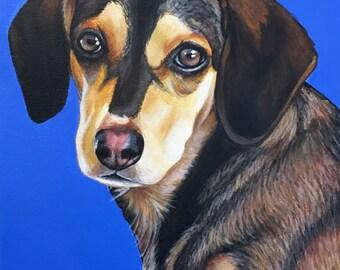 9x12 Custom Pet Portrait Acrylic Painting