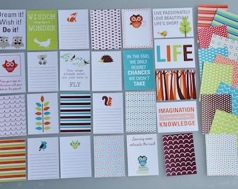 Animal pocket letter cards