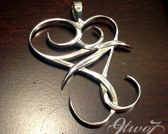 Embrace Silver Heart Pendant Necklace, .925 Sterling Silver Jewelry - FREE Shipping