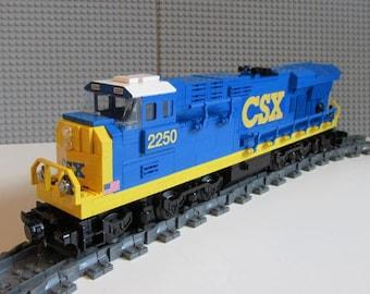 Custom Lego csx 01 es44ac Train Instructions NO BRICKS INCLUDED