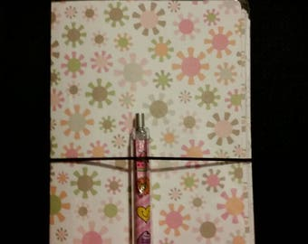 Laminated travelers notebook planner