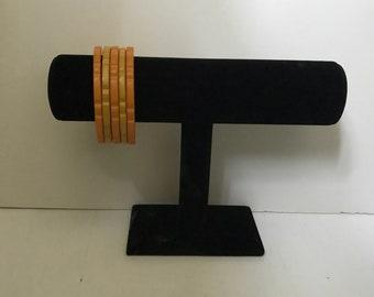 Faceted bakelite bangles