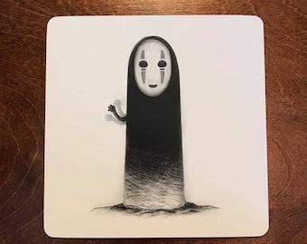 Bathhouse spirit print - No Face - Spirited Away - Ghibli - art print