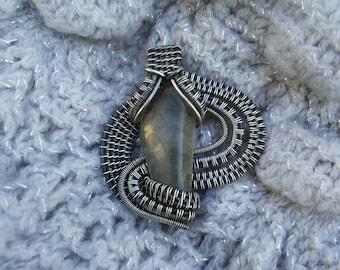 Snakes Wave - Labradorite Sterling Silver Pendant