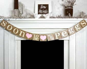 Rustic bridal shower decoration bridal shower banner soon rustic bridal shower decoration bridal shower banner soon to be mrs banner garland bachelorette sign bride to be wedding decor junglespirit Image collections