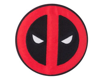 Deadpool Iron On Applique, Genuine Marvel Iron On Patch, Deadpool Applique, Deadpool Patch, Deadpool Mask, Superhero Applique, Kids Patch