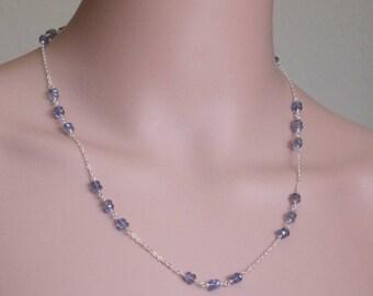 AA Grade Iolite Sterling Silver Necklace