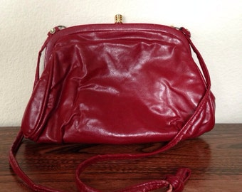 Deep Burgundy Vintage Handbag Clutch San Diego California USA CopperLocks Vintage Boutique