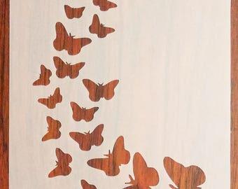 Butterflies (A5) Stencil Mask Reusable PP Sheet for Arts & Crafts, DIY
