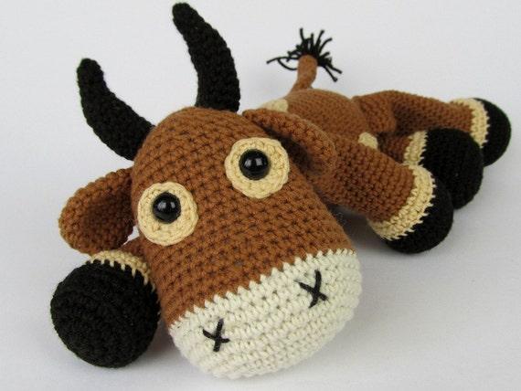 Amigurumi For Dummies Book : Bull boris amigurumi crochet pattern pdf e book stuffed