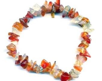 Baroque carnelian bracelet