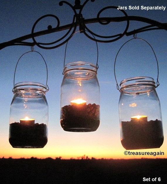 DIY Lanterns WIDE Mouth Mason Jar Hangers Ball Jar Lantern
