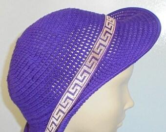 Ultra violet hat Summer gift women Wide-brimmed hat Beach hats for women Spring crochet hat Organic cotton hat Summer travel gift Beach hat
