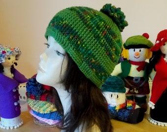Crochet Boho Hat, Crochet Hat, Crochet Textured Hat, Crochet Beanie Hat, Colorful Hat.
