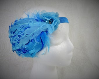 Feather Headband,  Baby Girl Feather Headband, Turquoise Feather Headband, Baby Headband, Little Girl Headband, Newborn Headband
