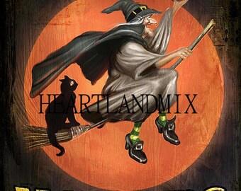 Halloween Witch Digital Image