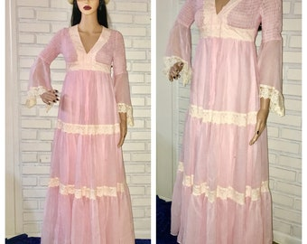 Vintage 70's Candi Jones Prairie Dress